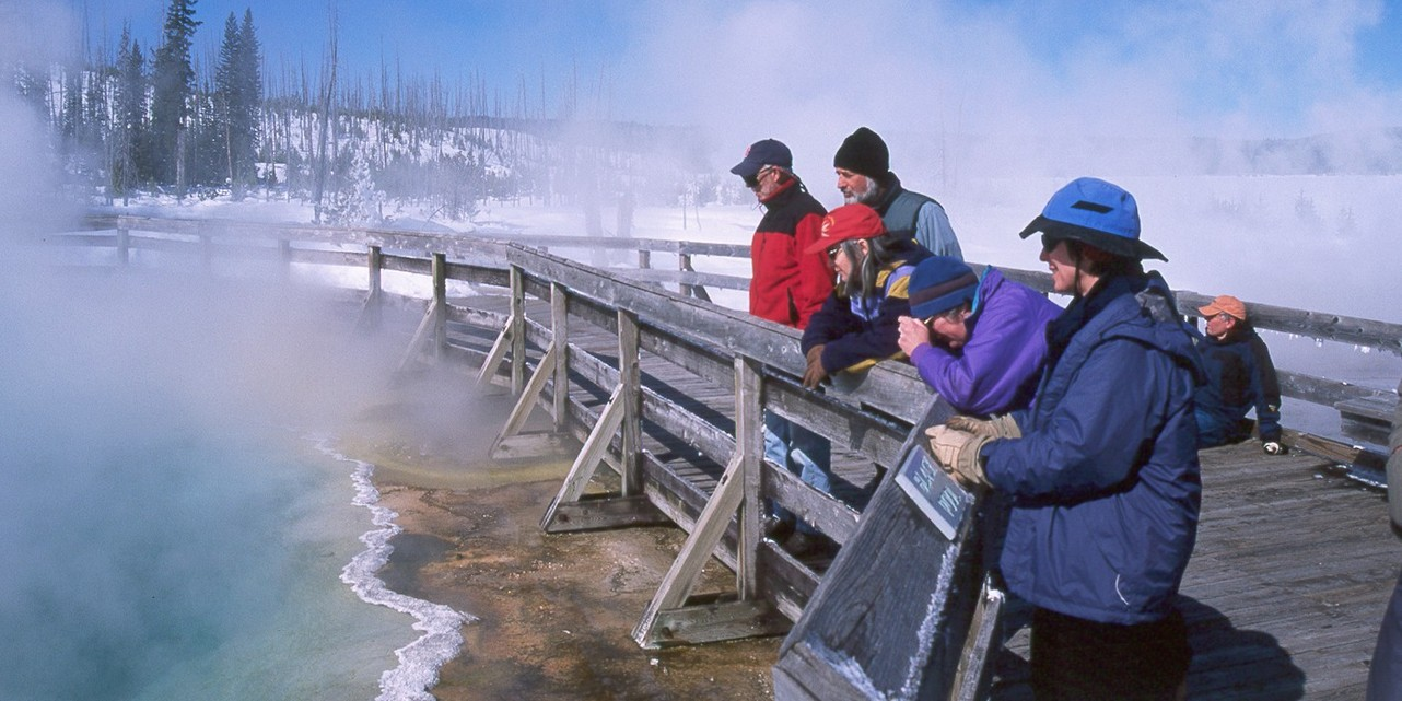 Enjoying the Thermals at West Thumb Geyser Basin