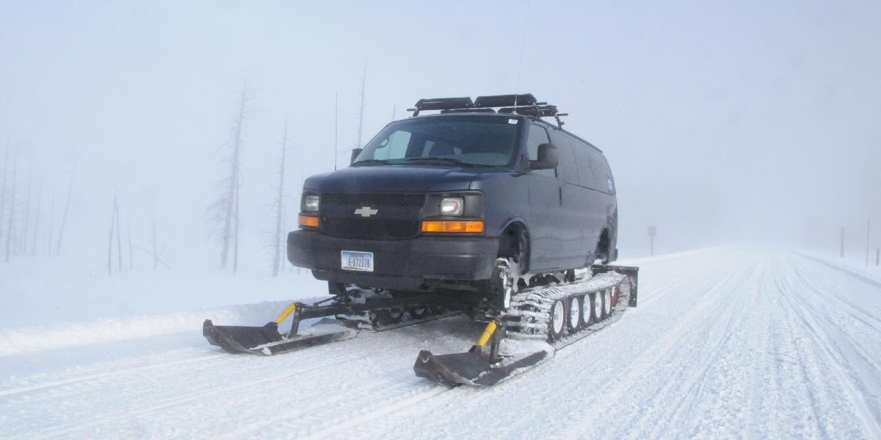 A Yellowstone Expeditions Snowcoach